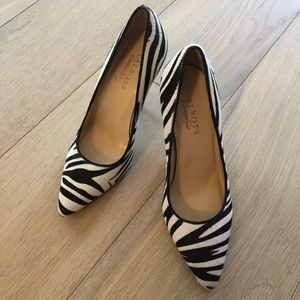 Talbots, size 6.5 Zebra Genuine Leather High Heels